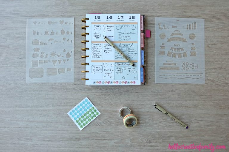 Did you know a Cricut Explore Air electronic cutting machine can help you get organized? From pantry organization labels, to planner stickers to printable calendars, there are so many things you make using your Cricut. Check out these awesome home organization ideas. #sponsored