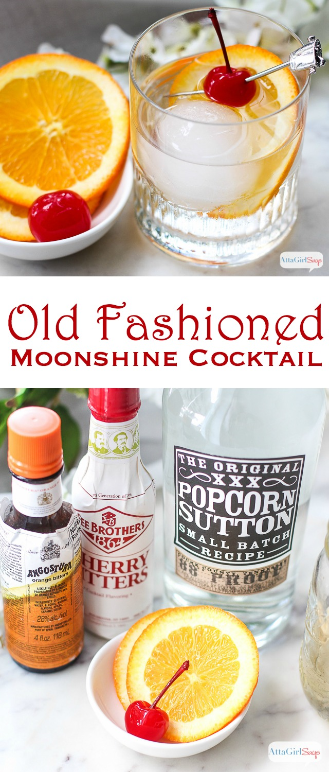If you love classic cocktails with a twist, give this moonshine Old Fashioned recipe a try. Made with moonshine, spiced simple syrup and bitters, it mimics the flavors of a traditional old fashioned cocktail.