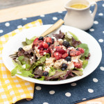 grilled chicken and fruit salad with poppyseed dressing