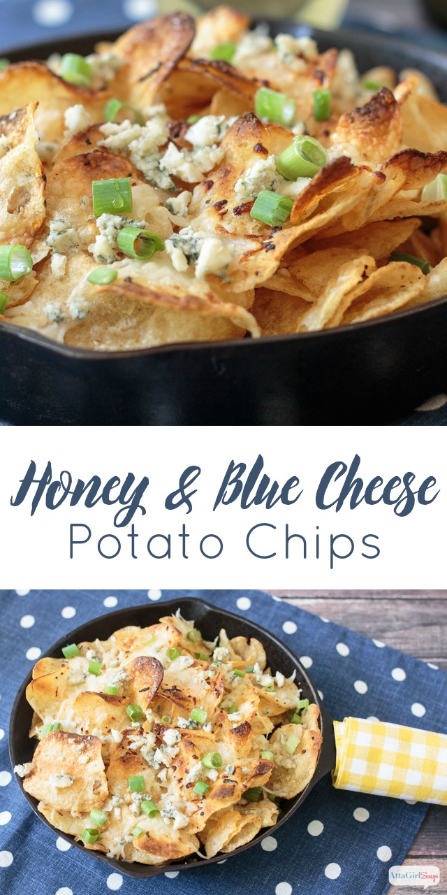 honey and blue cheese kettle chips appetizer