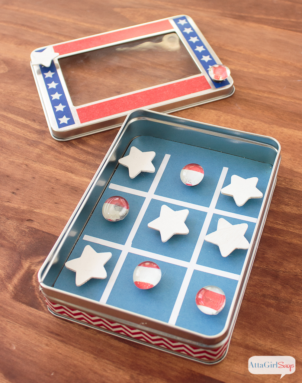 Magnetic Patriotic Tic Tac Toe Travel Game
