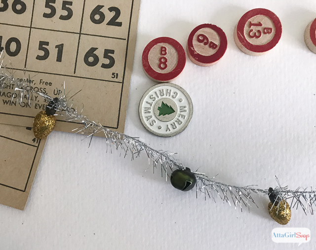 Christmas Bingo Card Ornaments