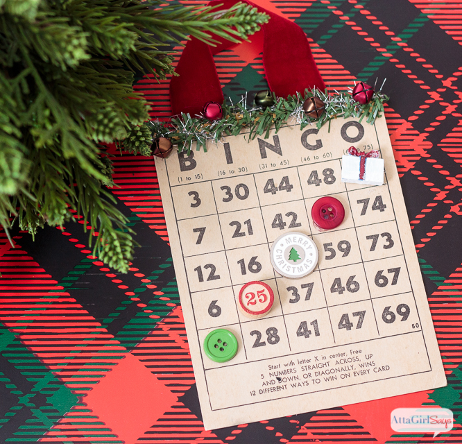 Add some vintage style to your tree with these handmade Christmas bingo card ornaments. You can make a playable set, too, for family game night.