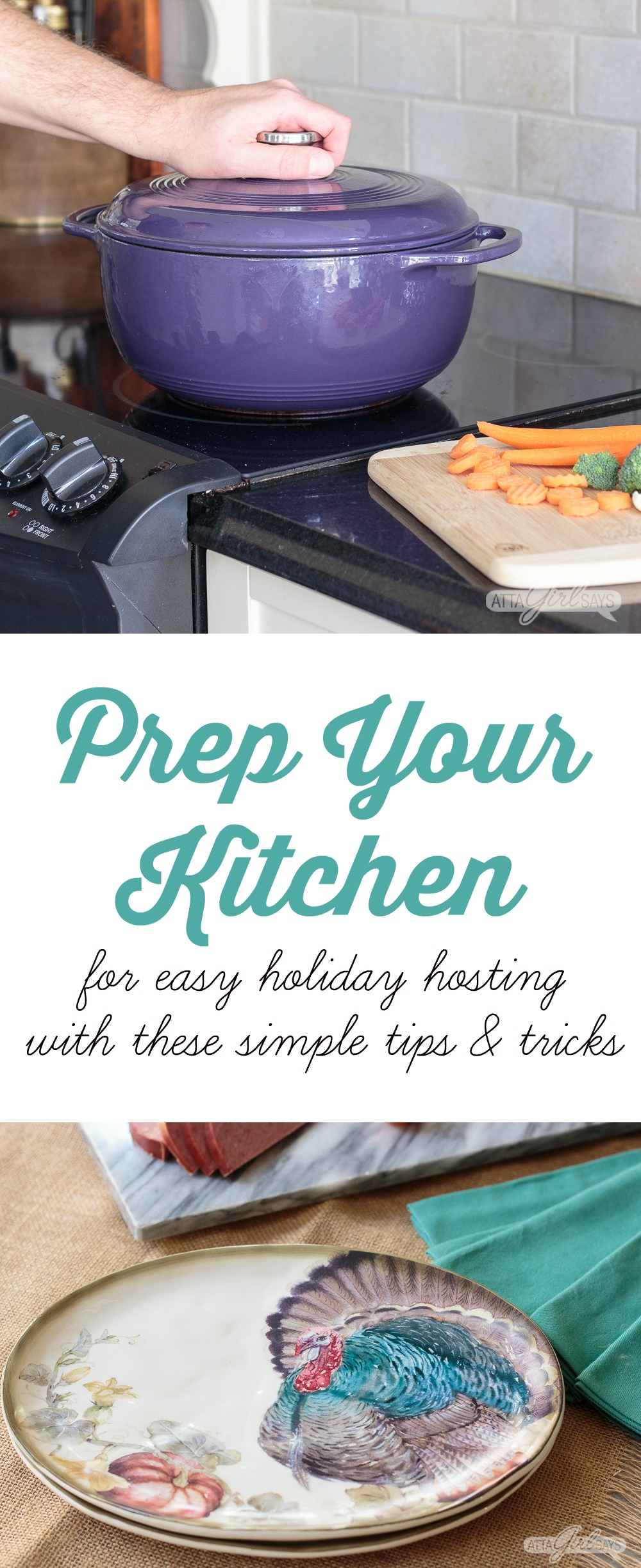 Prep your kitchen for easy holiday hosting with these simple tips and tricks. #sponsored