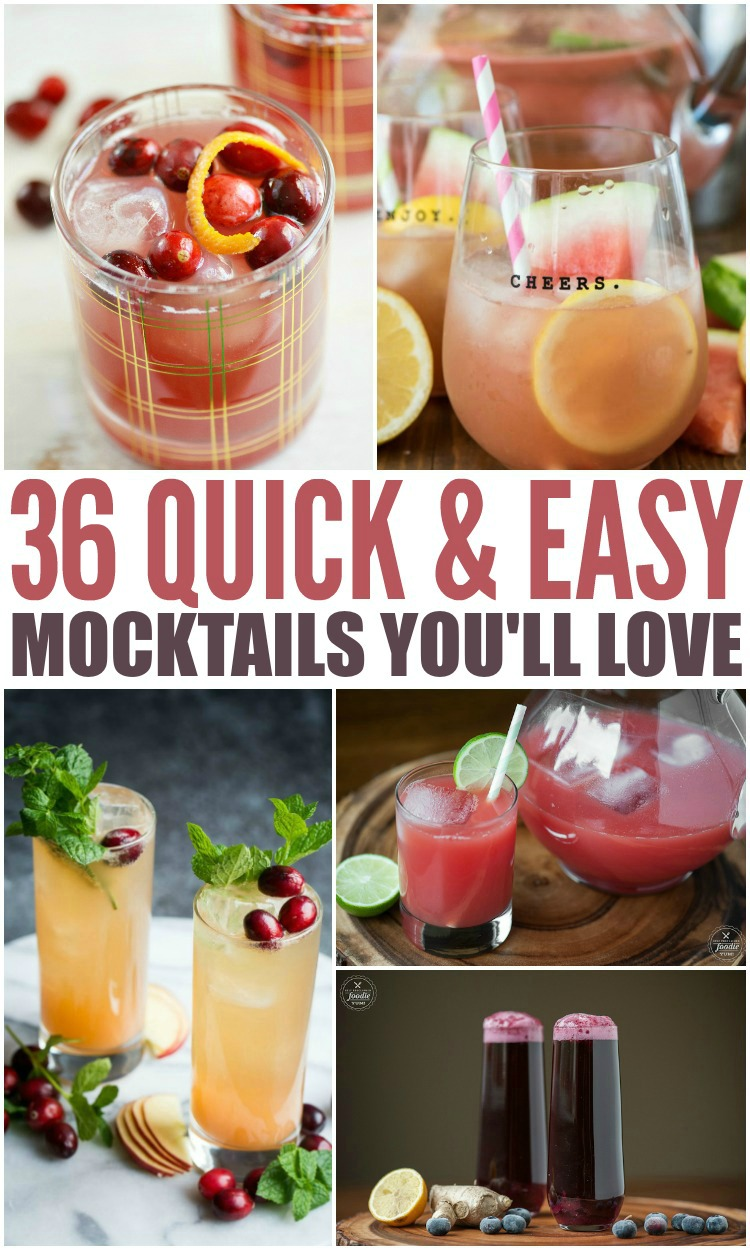 collage showing different mocktails