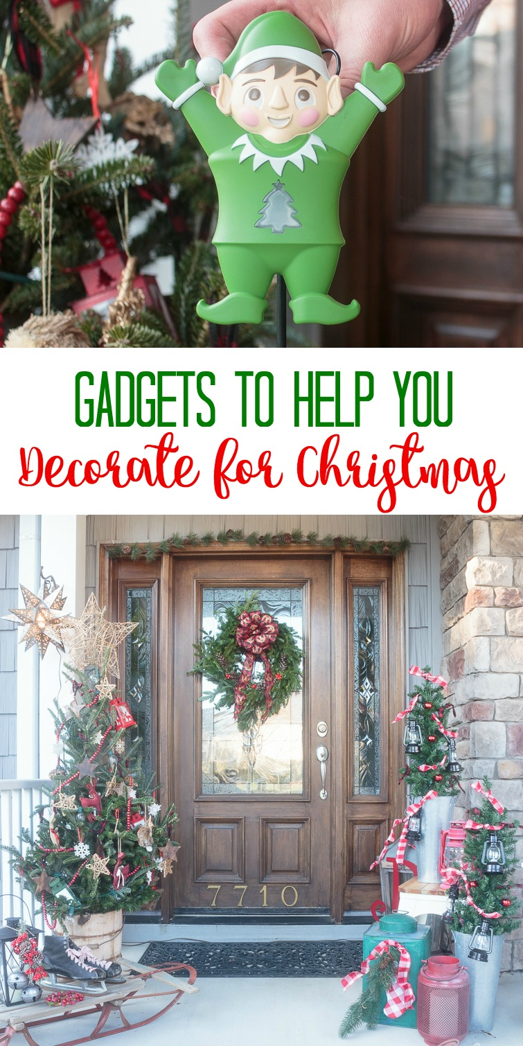 These Christmas gadgets will alleviate some of the frustration of decorating and add a touch of cool to your holiday decor. You'll find tools to help fix burned out Christmas lights and know when to water your Christmas tree to prevent fire hazards. #sponsored #EvergreenElf
