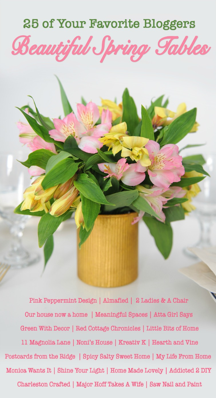 View 25 gorgeous spring tables and find a lot of inspiration for setting your own seasonal table. #tablescape #springtable #tabledecor