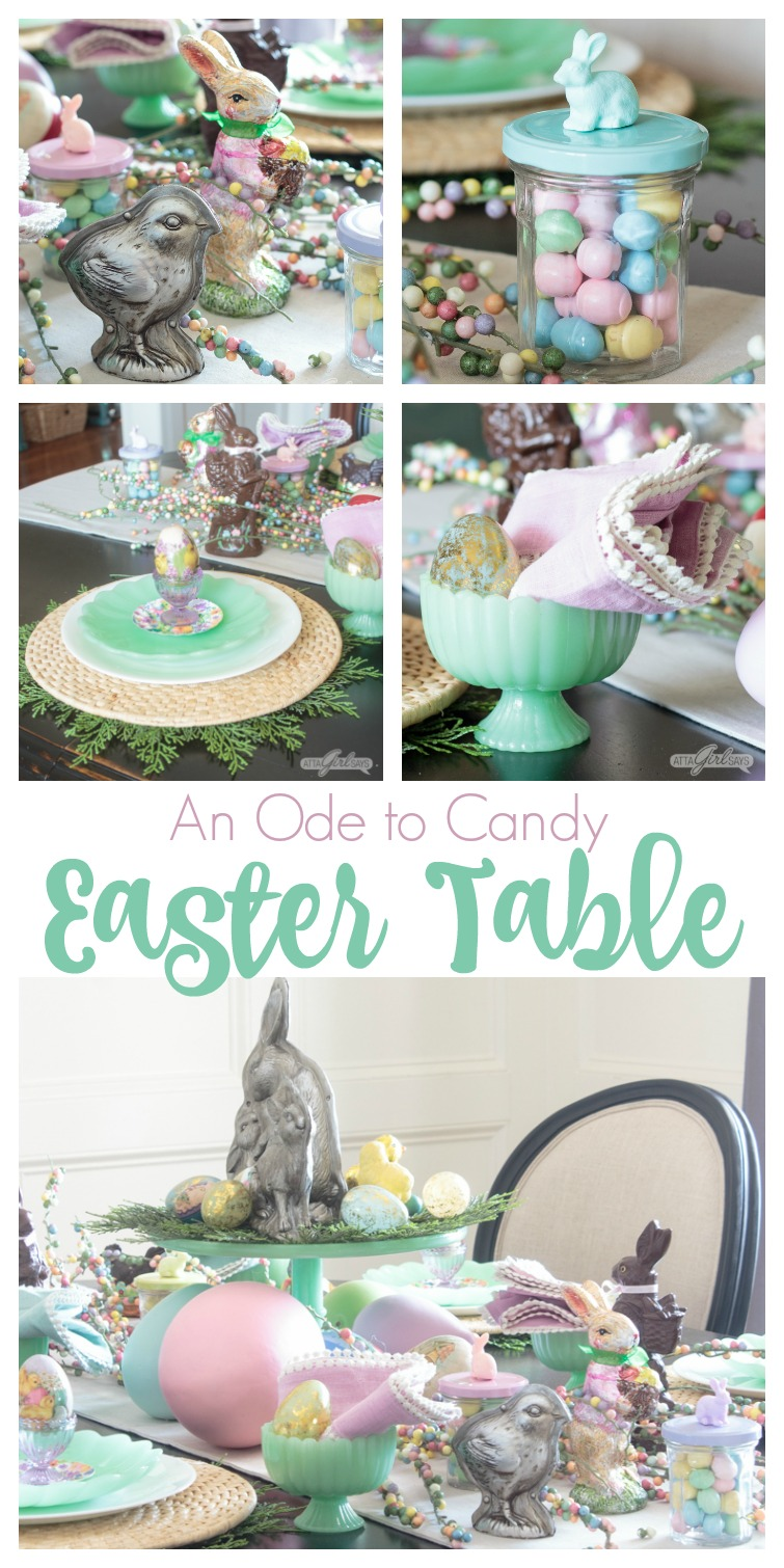candy themed Easter tablescape