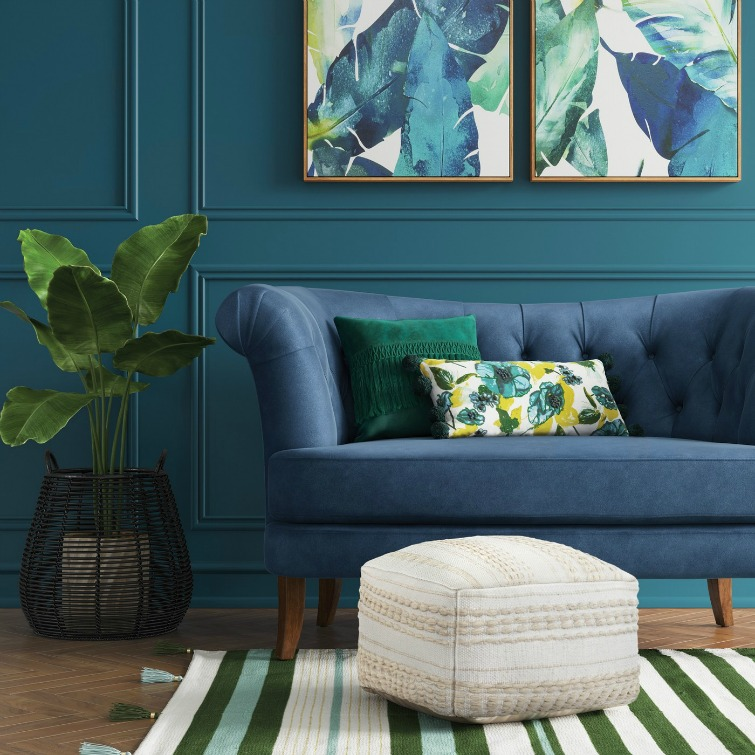 If you love vintage decor, hurry to Target to check out the new Opalhouse collection. This tufted velvet loveseat is just one of the fabulous vintage-style pieces you'll find at great prices! #opalhouse #targetstyle #vintagestyle #tufted #velvet #tuftedfurniture