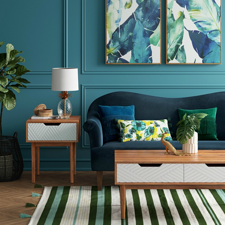 If you love vintage decor, hurry to Target to check out the new Opalhouse collection. This rollback velvet sofa is just one of the fabulous vintage-style pieces you'll find at great prices! #opalhouse #targetstyle #vintagestyle #velvet #velvetsofa