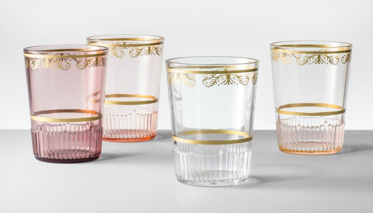 If you love vintage decor and housewares, hurry to Target to check out the new Opalhouse collection. These plastic tumblers are just a few of the fabulous vintage-style pieces you'll find at great prices! #opalhouse #targetstyle #vintagestyle #glassware