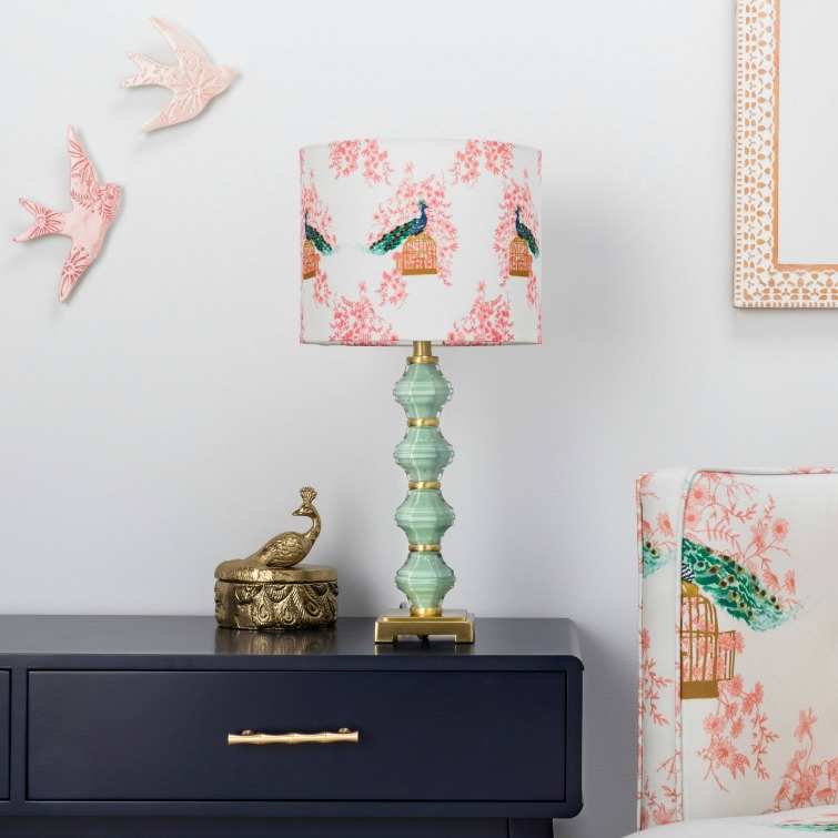 If you love vintage decor, hurry to Target to check out the new Opalhouse collection. This stacked glass peacock lamp is just one of the fabulous vintage-style pieces you'll find at great prices! #opalhouse #targetstyle #vintagestyle #peacock #lamp