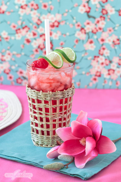 Perfect for the pool, porch or patio, this sparkling cherry cocktail is made with low-calorie, low-carb lemon lime spiked sparkling water, cherry schnapps and vanilla vodka. #CelebratorySips #HenrysSparklingSips #HenrysHardSparkling #ad