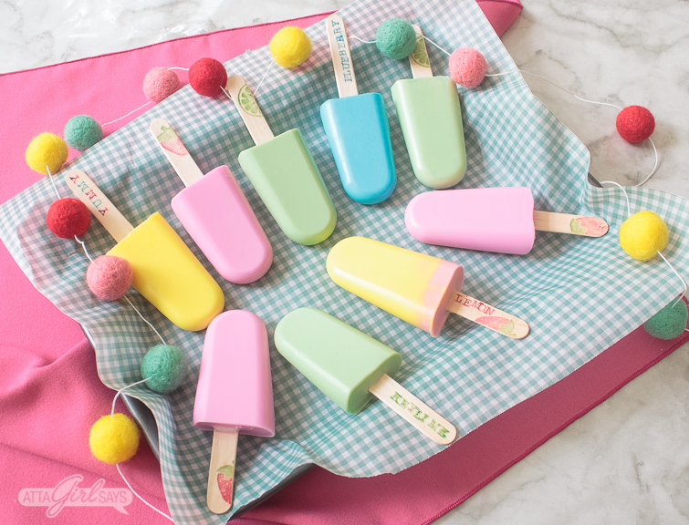 colorful popsicle soap