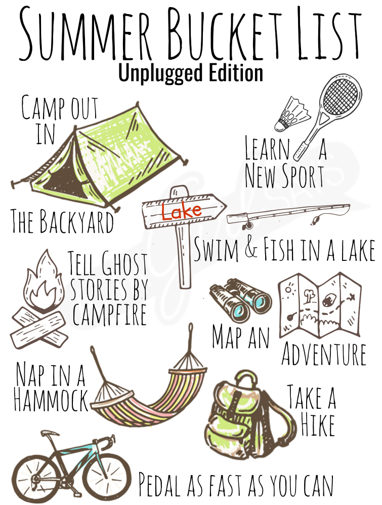 Feeling nostalgic for those simple, fun, free-wheeling summer days of your childhood? Challenge your family to savor the season and unplug more this summer. Be sure to grab your copy of my summer bucket list ideas printable poster. PlayRelay, #GoFarandStayClose #ad