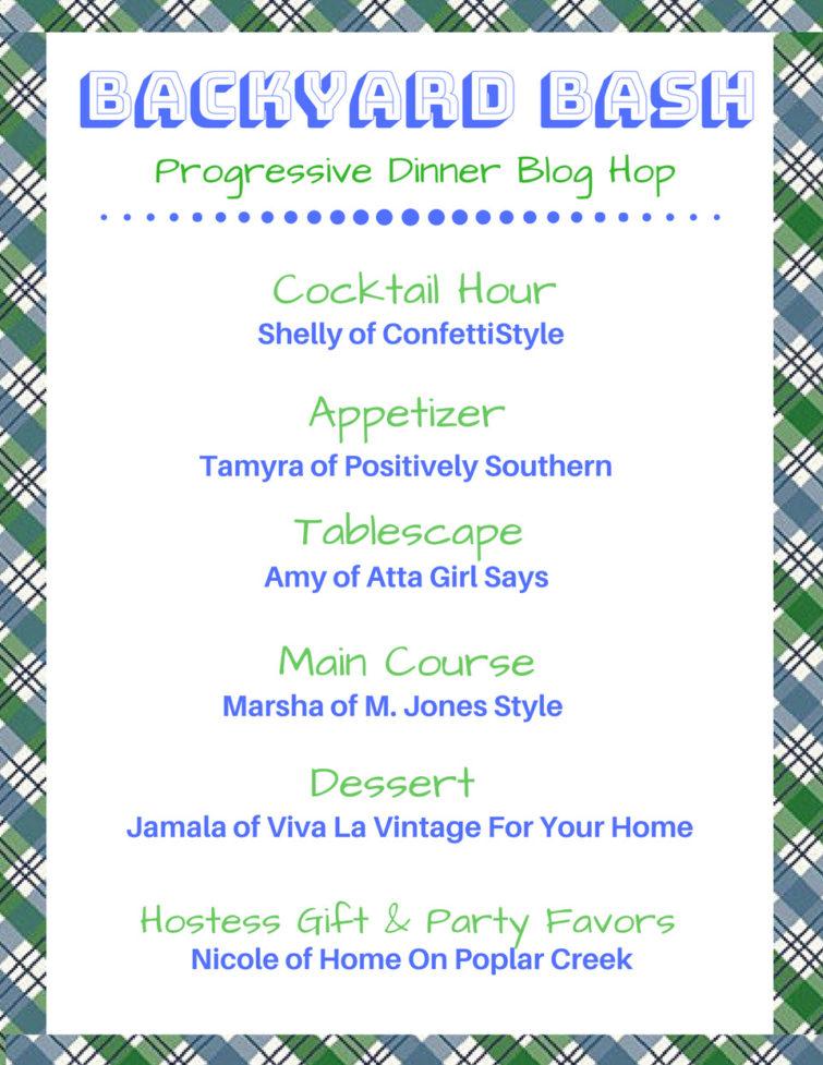 Summer Soiree Progressive Dinner Hop Lineup