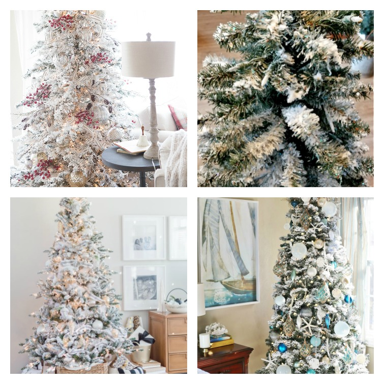 DIY white Flocked Christmas Trees