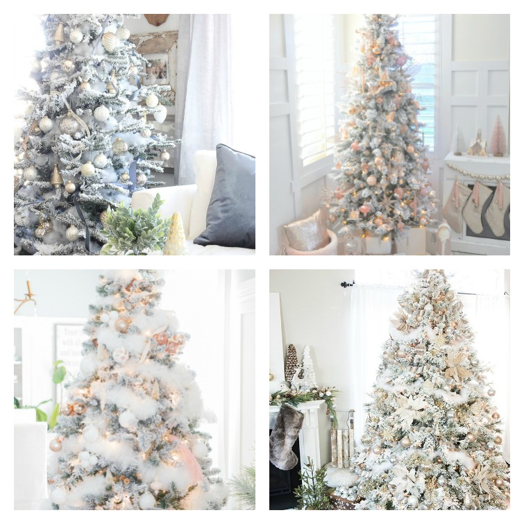Ideas for decorating a flocked Christmas tree