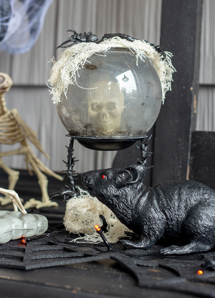 crystal ball with a skull in it