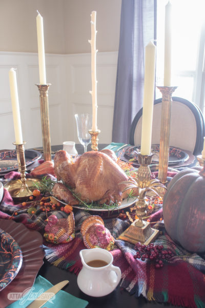 Easy Thanksgiving Dinner & Tablescape