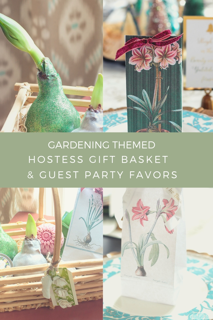 ideas for gardening-themed hostess gifts and guest Christmas party favors