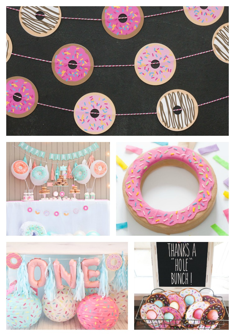 Donut Party decor ideas collage photo