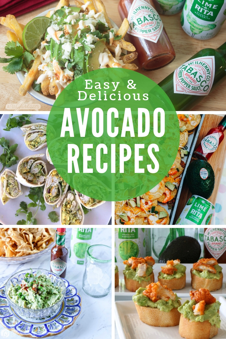 collage of 5 avocado recipes