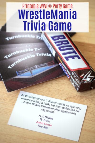 Printable WrestleMania Trivia Card Game