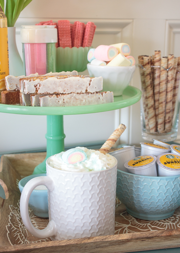 spring coffee bar with sweet confections