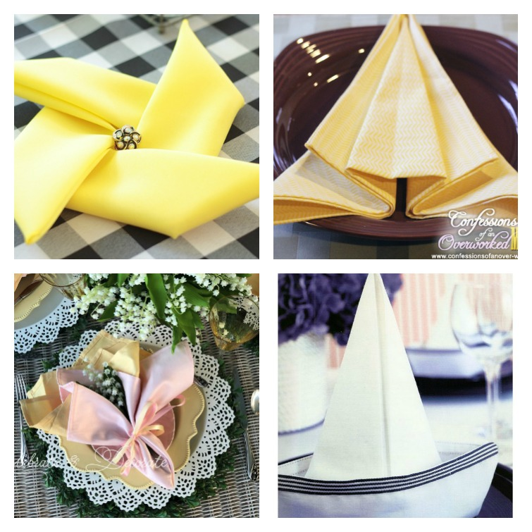 Creative Napkin Fold Ideas Atta Girl Says