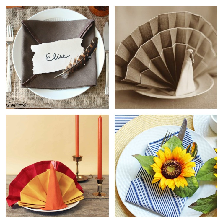 Fall Napkin Fold Ideas Atta Girl Says