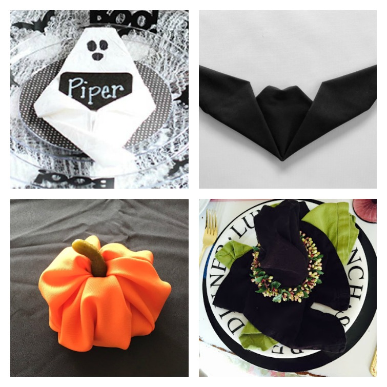 Halloween Napkin Fold Ideas Atta Girl Says