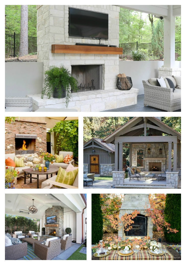 Fireplace Ideas For Outdoor Living Atta Girl Says