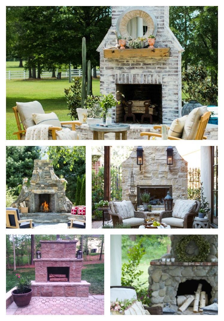 Stunning Outdoor Fireplaces Atta Girl Says