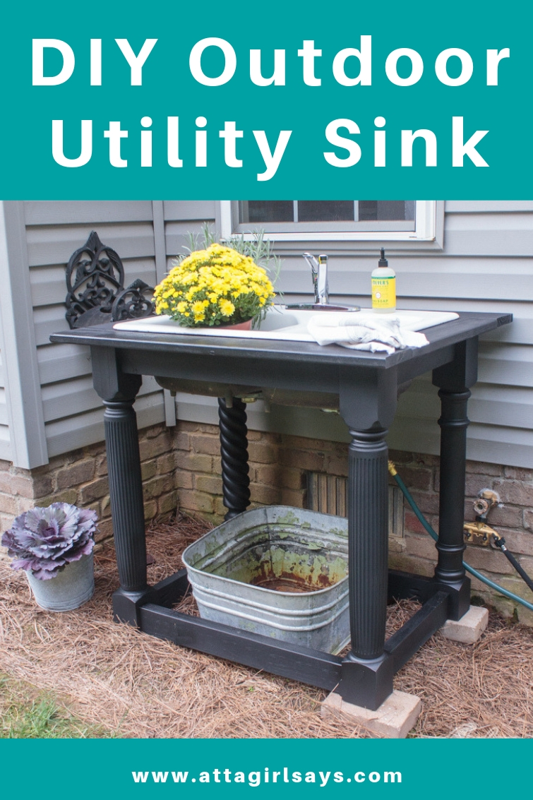 Picture of: Diy Outdoor Sink Using A Cast Iron Farmhouse Sink