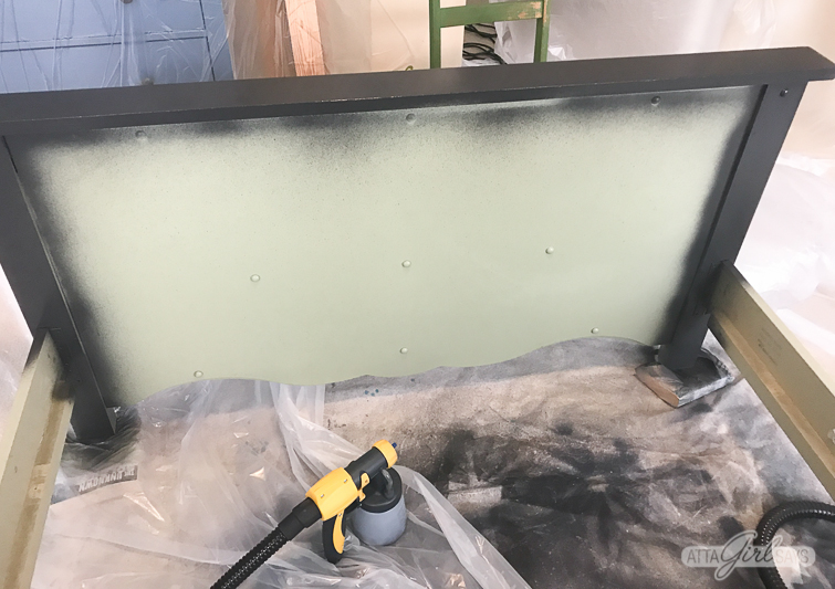 painting a green bed black