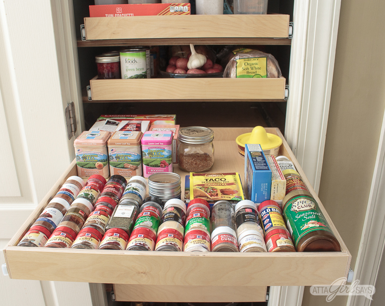 pull out kitchen pantry spice drawer