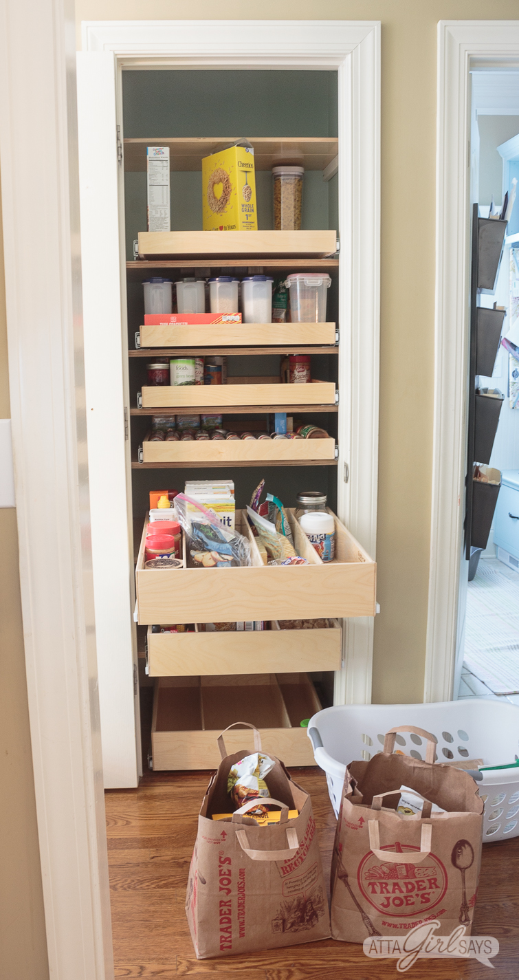 how to organize a pantry with deep shelves