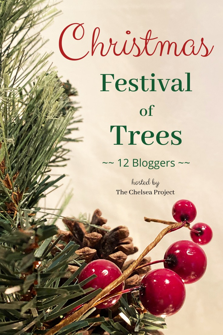 graphic with evergreen branches and berries titled Festival of Trees