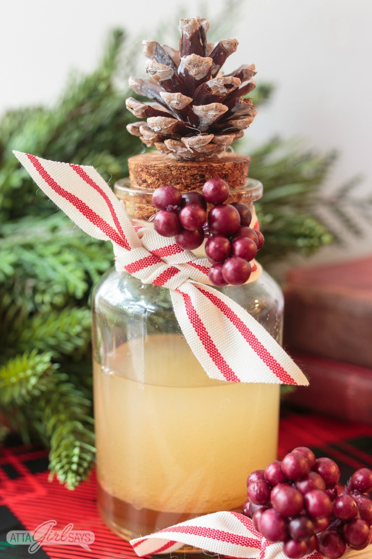 DIY Christmas Scent Reed Diffuser
