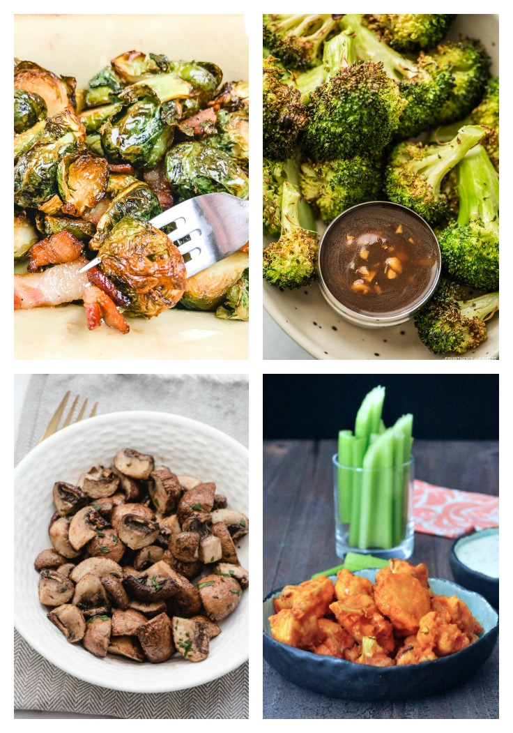 Brussels sprouts, roasted broccoli, buffalo cauliflower and marinated mushrooms