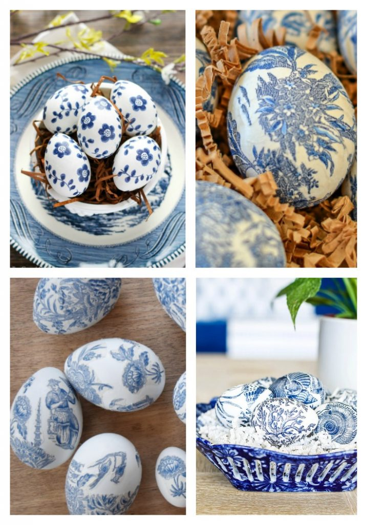 Chinoiserie Decoupaged Easter Eggs
