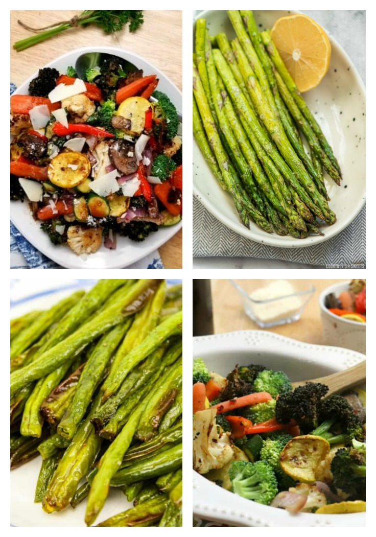asparagus and mixed vegetables made in the air fryer
