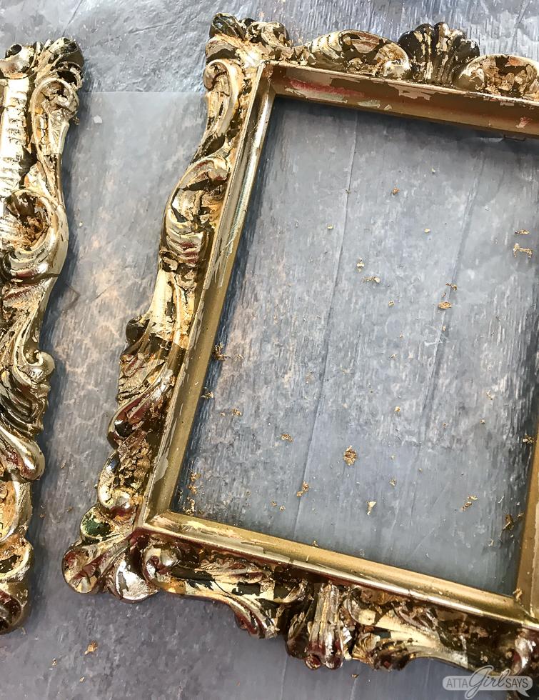 vintage frame with gold leaf detailing