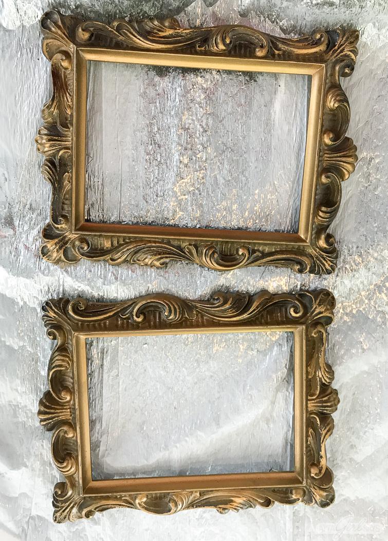 vintage ornate gold picture frames