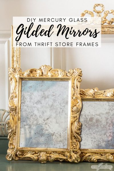 DIY Mercury Glass Gilded Mirror