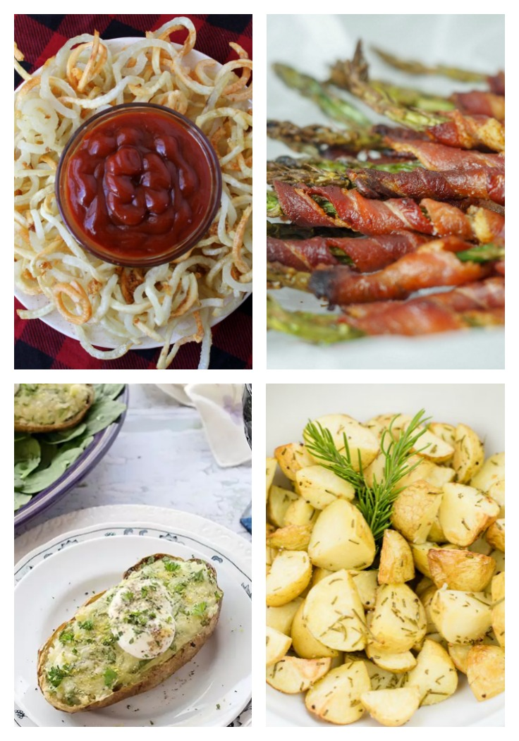 four different side dishes