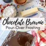 collage photo showing how to make moist iced chocolate brownies from a mix