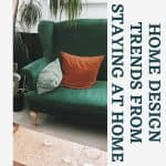 green velvet sofa with velvet pillows on it