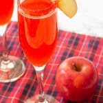 champagne and apple cider cocktail